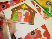 nativity colouring 2